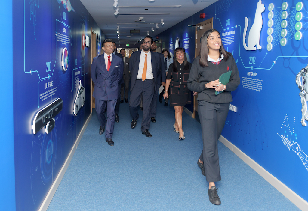 Mr Sunny Varkey taking a tour of the Centre